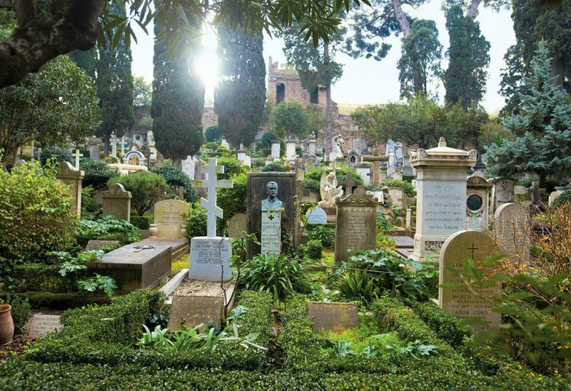 "<em>Il Cimitero Acattolico di Roma</em> is the ""Non-Catholic"" cemetery of Rome, Italy. Prior to 1738, the Vatican prohibited people who were not Catholic from being buried in the city."