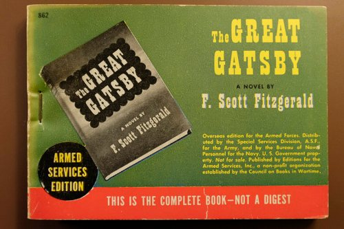 The Armed Services Edition of the Great Gatsby, a book given new life by this rerelease.