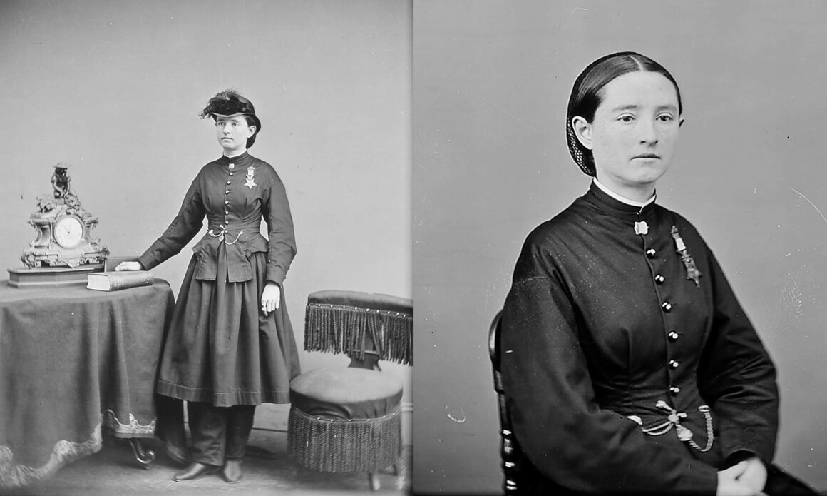 Two photographs of Walker, taken between 1860 and 1865.