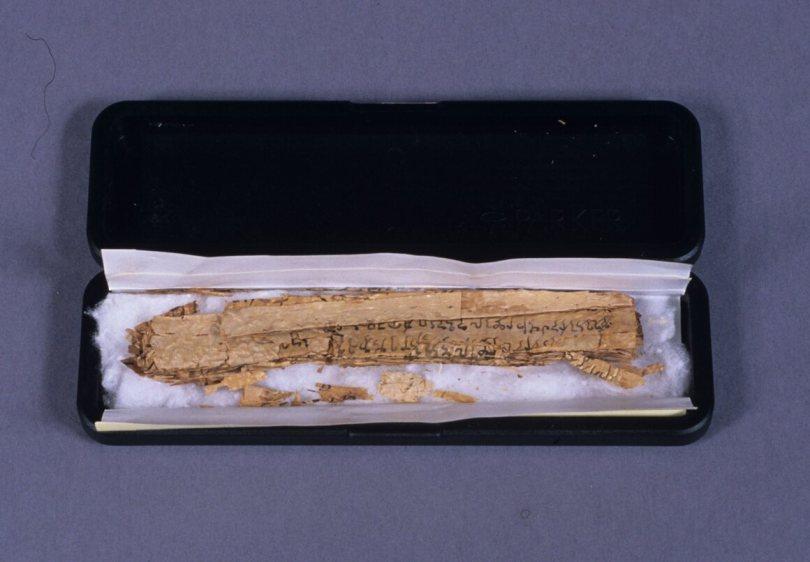 The Gandhara scroll arrived in remarkably mundane Parker Pen box.