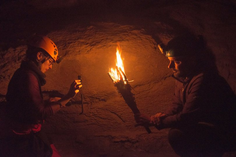 Researchers built torches and other light sources similar to what the Paleolithic artists would have used. The scientists then recorded their brightness, temperature, burn time, and other aspects.