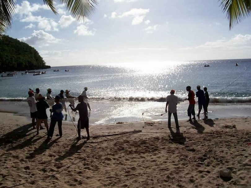 Some of the meals and food-gathering strategies of the past persist in the Caribbean—as these fishers in Martinique demonstrate.