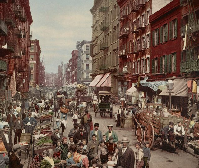 Mulberry Street Where New Yorks Little Italy Is Centered C