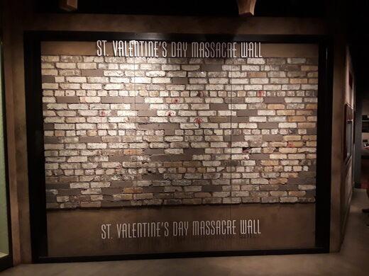 St Valentines Day Massacre Wall Las Vegas Nevada