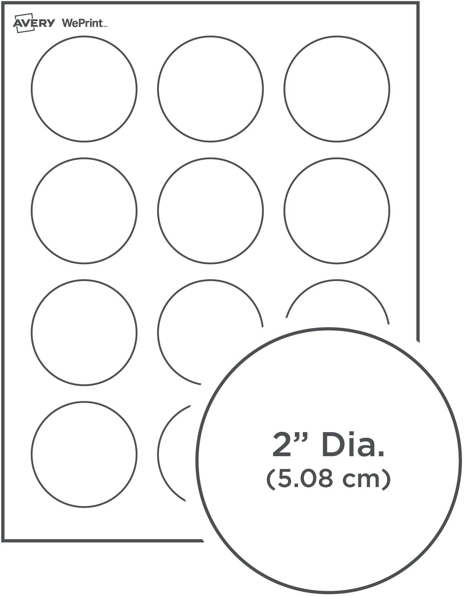 Label Template Inch Round