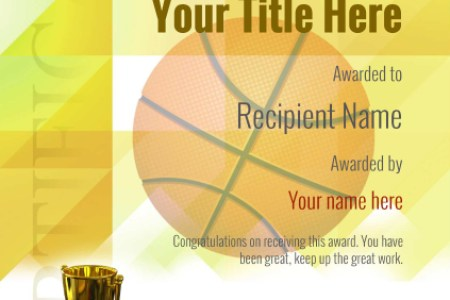 Free Basketball Certificate templates   Add Printable Badges   Medals certificate template basketball modern 2yt5g Image