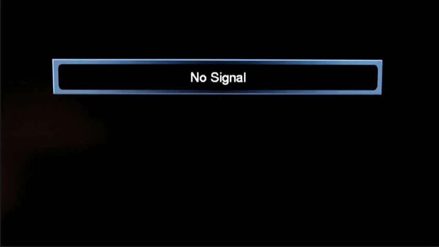 le televiseur affiche un ecran bleu