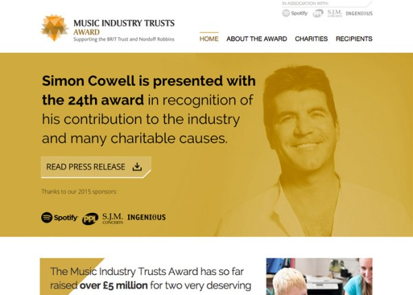 Music Industry Trusts Award - Awwwards Nominee