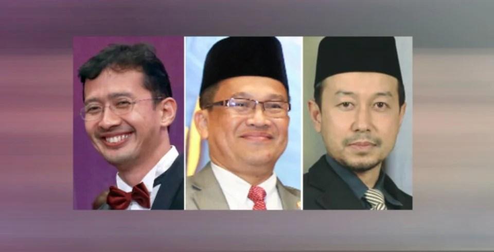 Dari kiri; Datuk Johan Mahmood Merican, Datuk Mohd Ajib Ismail dan Datuk Dr Luqman Abdullah. - Foto NSTP