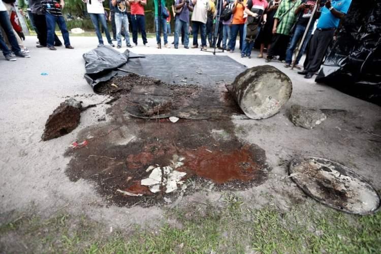 Mayat Morais ditemui dalam tong dram yang diisi konkrit.
