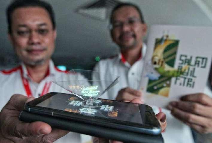 Image result for kad raya hologram 3d