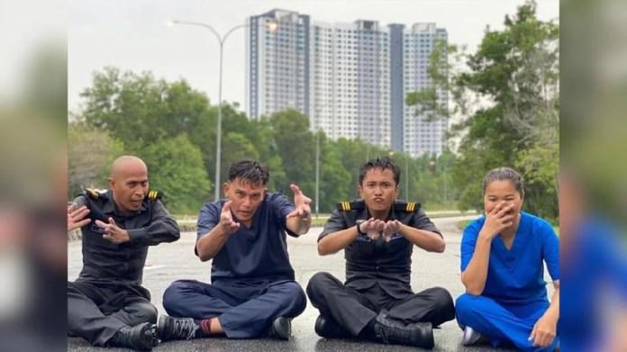 Beto Kusyairy bergandingan dengan Azhan Rani, Achey dan Farah Ahmad dalam filem Frontliner yang disiarkan menerusi Astro First. - Foto IG Beto Kusyairy