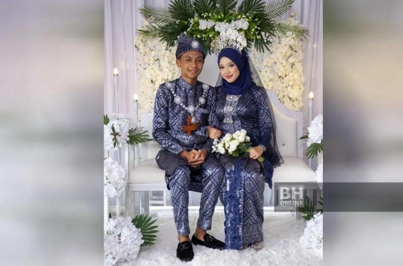 Perkahwinan Ahmad Faris dan Nurin Irdina yang berusia 16 tahun, tular pada hujung tahun lalu kerana pasangan pengantin masih berusia muda. - Foto fail NSTP