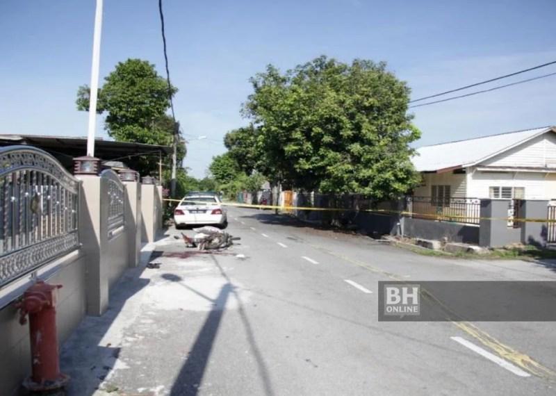 Lokasi mangsa pasangan suami isteri warga emas yang dilanggar dan ditetak. - Foto PDRM