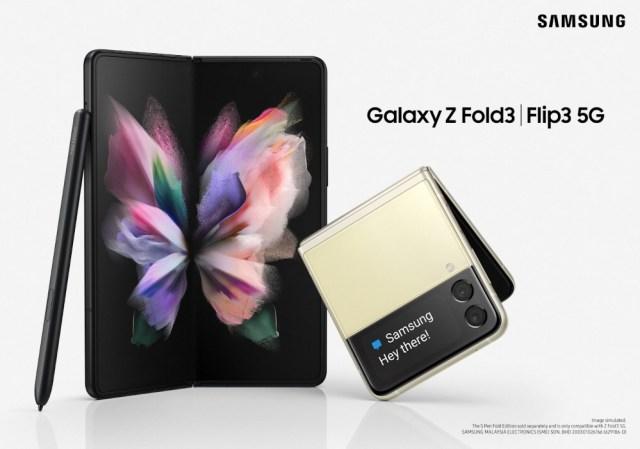 Galaxy Z Fold3 5G, Flip3 5G cipta standard baharu