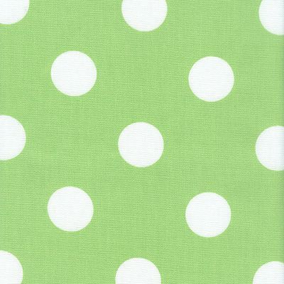 Fabric Freak Ff Lime Green And White Polka Dot Outdoor