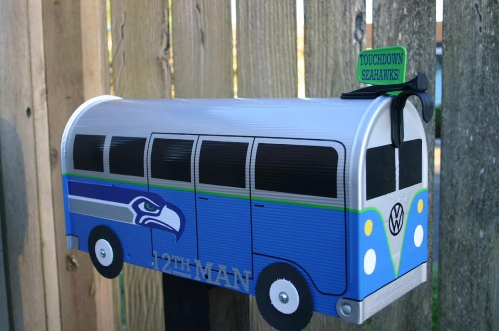Seattle Seahawks Split Window Volkswagen Bus Mailbox By