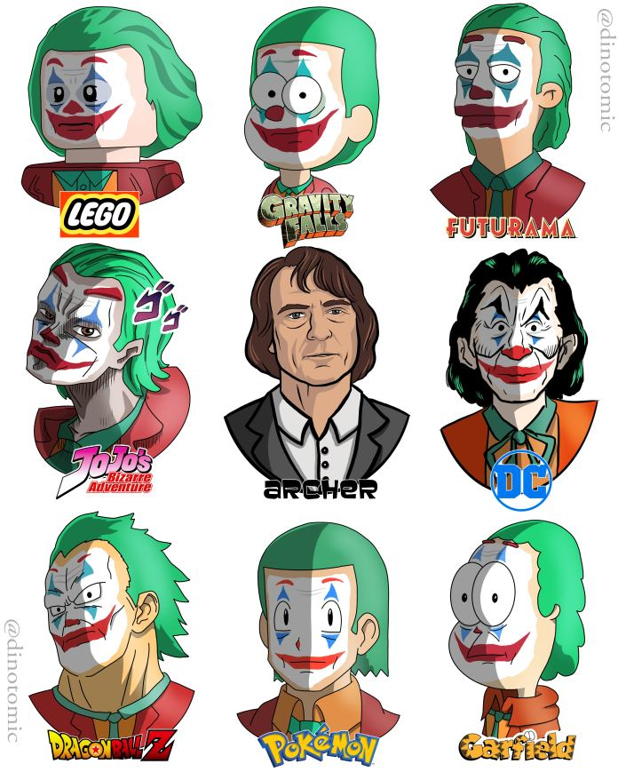 Image of #194 Joker in many styles