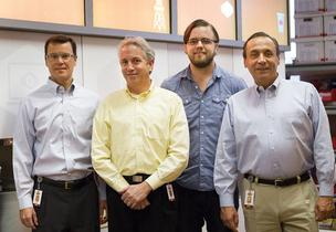 From left, Kevin Nater, Charles Studor, Patrick Pierce and John Craparo are behind Briggo LLC.