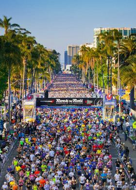 The start line of the 2011 Rock 'n' Roll Marathon in San Diego. The Competitor Group, which organizes the events nationwide, will be bringing a Rock 'n' Roll Marathon to Pittsburgh for three years beginning in August 2013.