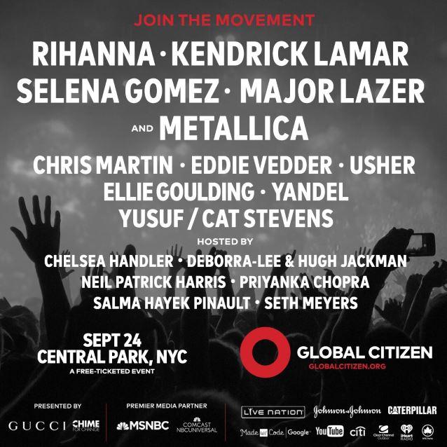 metallica globalcitizenfest2016poster