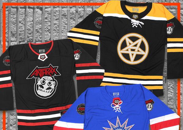 ANTHRAX se une a PUCK HCKY para una línea de ropa inspirada en el hockey