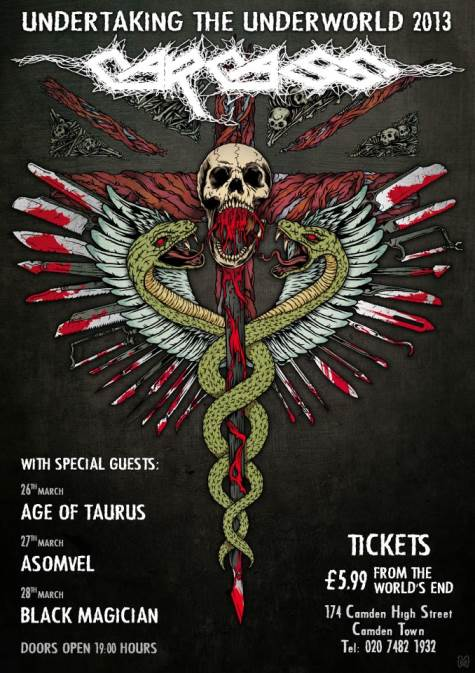 New Carcass Lineup Performs Live For First Time Video