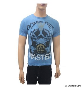 SPOON Men T-Shirt Body Fit Don't Get Wasted - Blue (V)