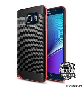 SPIGEN Galaxy Note 5 Case Neo Hybrid Carbon [SGP11691] - Dante Red