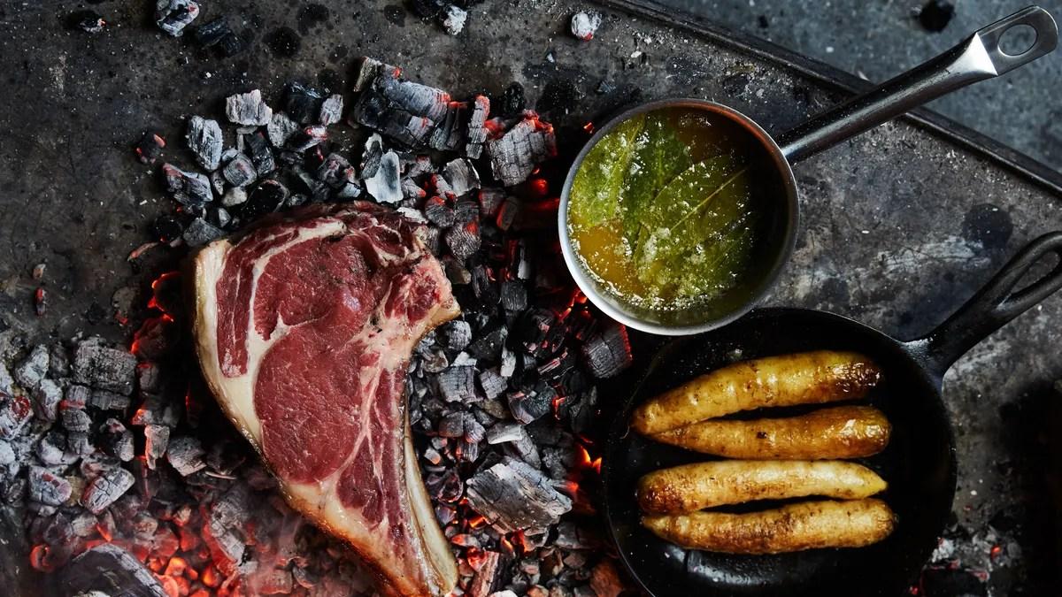 Eye Skillet Rib Steak Iron Cast