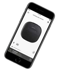 Bose Connect app mobile screen