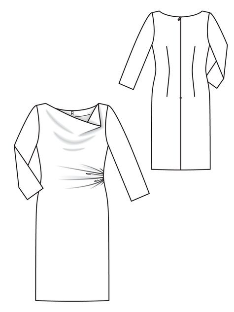 Burda Style 10/2012 118A Line drawing