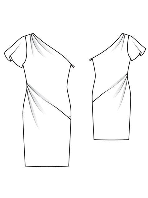 Member Model Challenge: Asymmetric Designer Dress by Burda Style Burda pattern