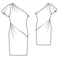 Member Model Challenge: Asymmetric Designer Dress by Burda Style