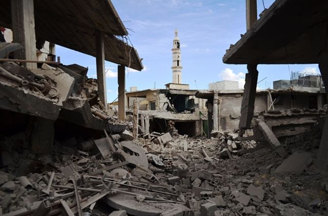 <p>Russian has been bombing Homs province.</p>  Photographer: MAHMOUD TAHA/AFP/Getty Images