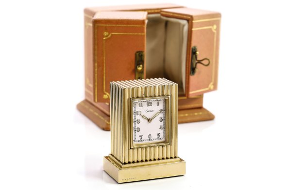 Cartier Gold Desk Clock (Lot 208)