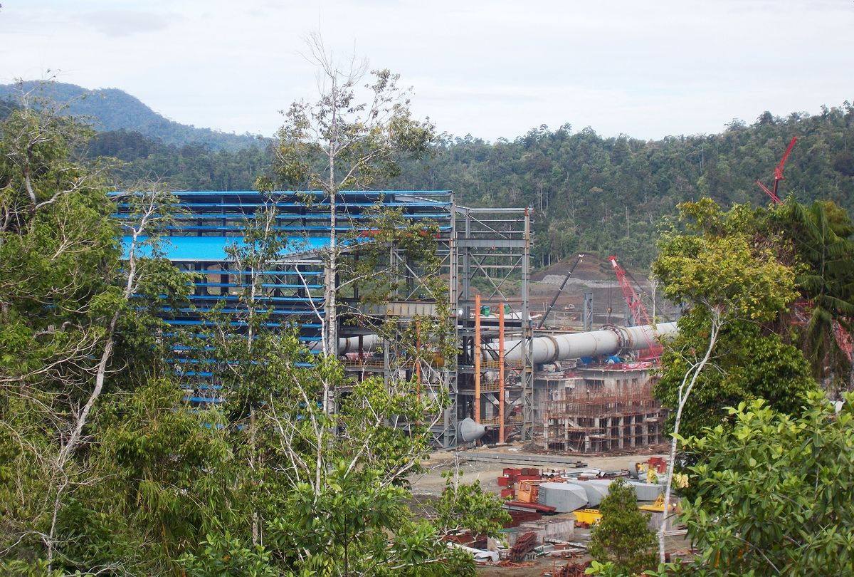 PT Sulawesi Mining's nickel smelter and power plant stands under construction in Morowali, Central Sulawesi province, Indonesia. Photographer: Yoga Rusmana/Bloomberg