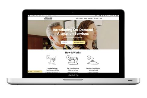The home page of zTailors.com.