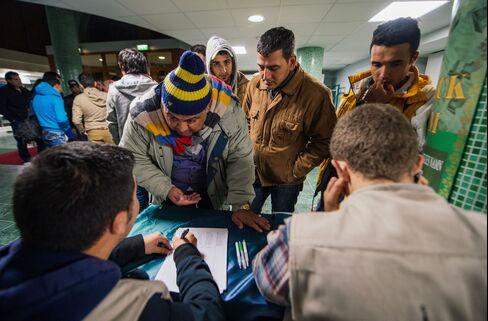 Refugee's register at Stockholm central mosque