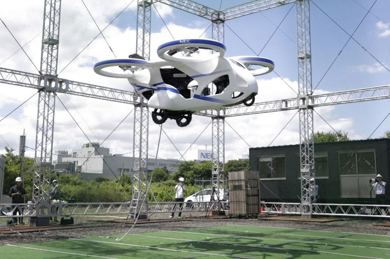Image result for JAPANESE FLYING CAR GETS OFF THE GROUND