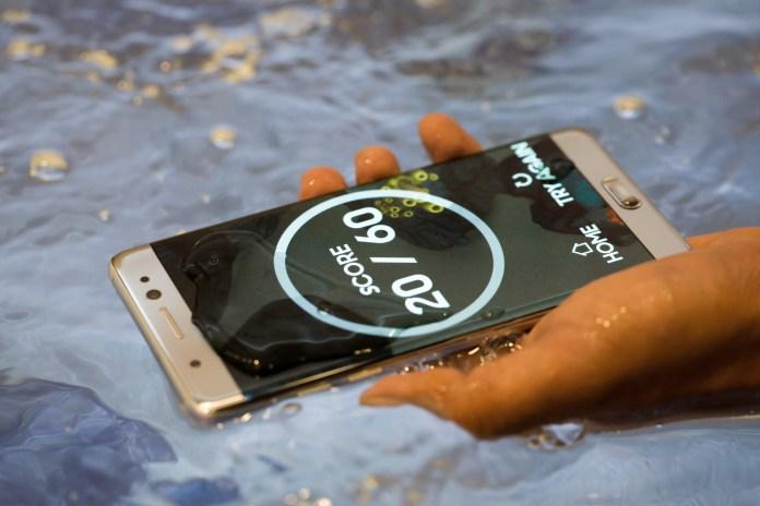 Samsung Galaxy Note 7 smartphone.