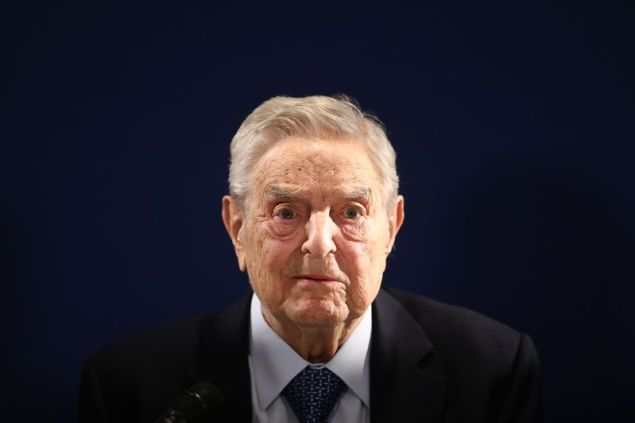 George Soros in Davos on Jan. 23.