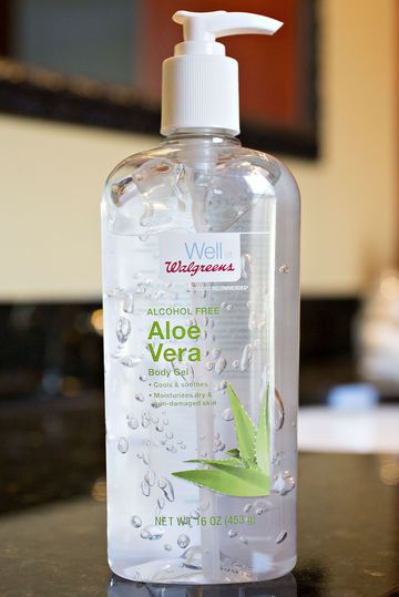 Walgreens Well brand alcohol free Aloe Vera Body Gel