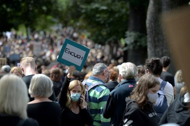 Thousands of Australian women protest as rape scandals hit Morrison