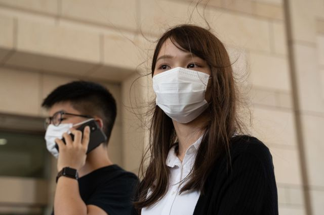 Former Demosisto Members Joshua Wong, Agnes Chow and Ivan Lam Make Court Appearance
