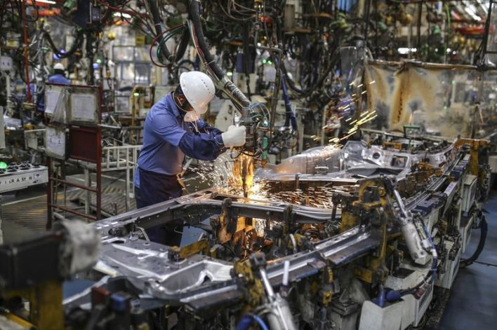 Manufacturing at a Toyota Kirloskar Motor's Factory as Automaker Halts India Expansion Due to Taxes