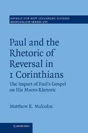 Paul and the Rhetoric of Reversal in 1 Corinthians