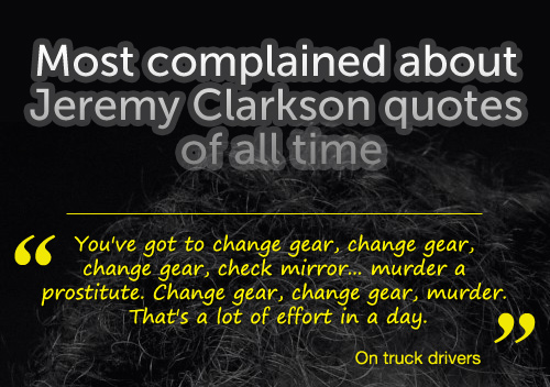 Jeremy Clarkson Quotes An Infographic Of His
