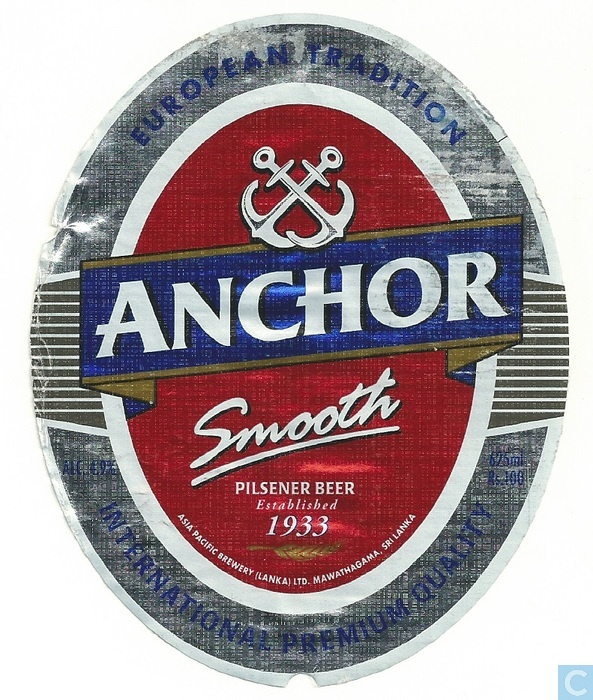 Anchor Smooth Asia Pacific Brewery Sri Lanka Catawiki