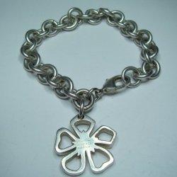 2a6cfe83a Elsa Peretti Tiffany & Co Armour Bracelet Genuine Silver 925 With Flower  Pendant 311 Grams Catawiki